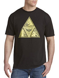The Legend of Zelda Silhouette Triforce Graphic Tee