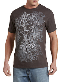 Iron Works Cross Heraldic Graphic Tee