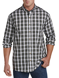 Harbor Bay® Easy-Care Medium Plaid Sport Shirt