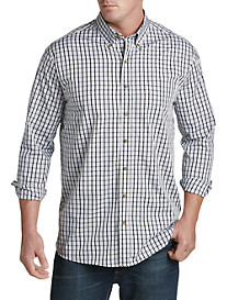 Harbor Bay® Easy-Care Grid-Pattern Sport Shirt