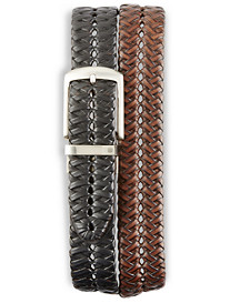 Harbor Bay® Reversible Braided Faux-Leather Belt