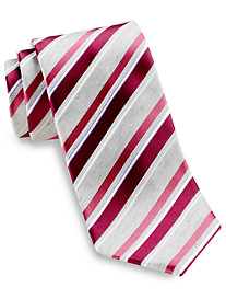 Geoffrey Beene® Not So Basic Stripe Silk Tie
