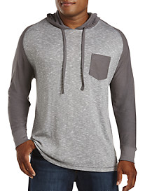 PX Clothing Mixed-Media Colorblock Hoodie