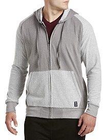PX Clothing Terry Contrast Full-Zip Hoodie