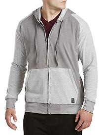 PX Clothing Terry Contrast Full-Zip Hoodie