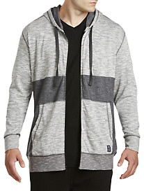 PX Clothing Textured Full-Zip Hoodie