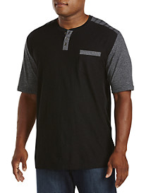PX Clothing Contrast-Detailed Henley