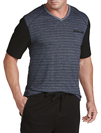 PX Clothing Contrast-Detailed V-Neck Tee