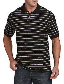 Harbor Bay® Narrow B-Color Stripe Polo