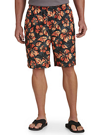 Island Passport® Floral-Print Swim Trunks