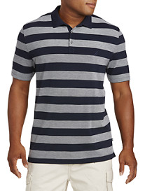 Nautica® Oxford Stripe Piqué Polo