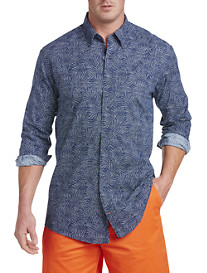 Nautica® Printed Chambray Sport Shirt