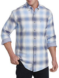 Nautica® Blue Oxford Plaid Sport Shirt