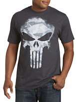 Punisher Darkness Skull Camo Graphic Tee