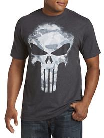 Punisher Darkness Skull Camo Graphic Tee