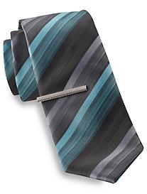 Gold Series Ombré Tonal Tie with Tie Bar