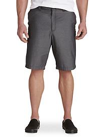 True Nation® Flat-Front Diamond-Pattern Shorts