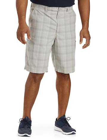 True Nation® Hidden Zipper Cargo Shorts - Available in light grey