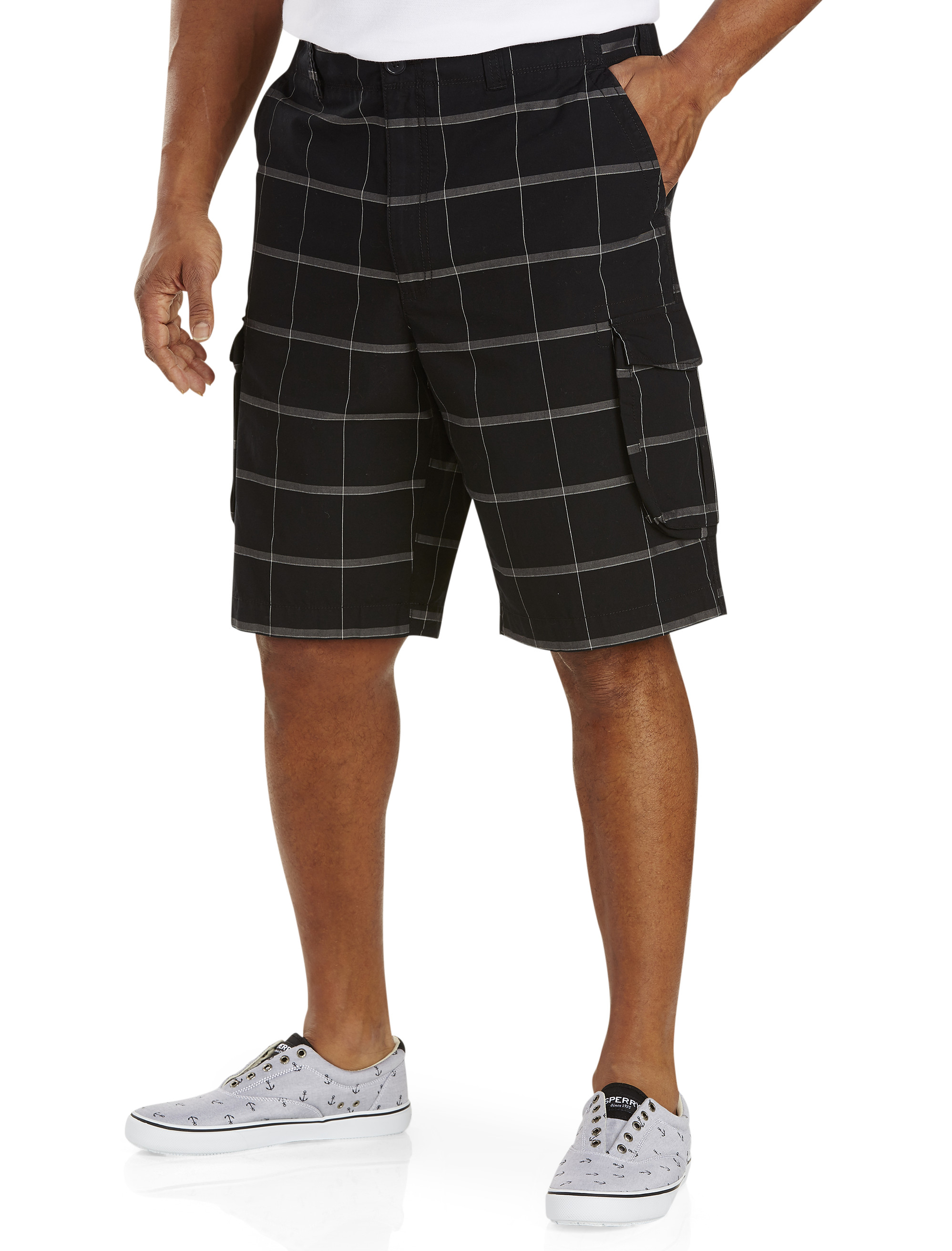 True Nation Plaid Cargo Shorts | Tuggl