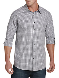 Synrgy™ Plaid Roll-Sleeve Sport Shirt