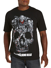 Walking Dead--Skull Montage Graphic Tee