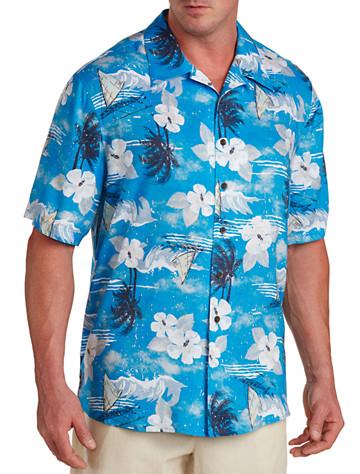 Island Passport® Nautical-Print Camp Shirt