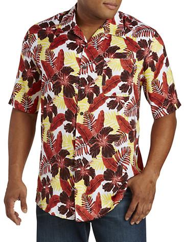 Island Passport® Leaf-Print Camp Shirt