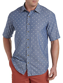 True Nation® Nautical-Print Chambray Sport Shirt