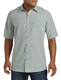 Harbor Bay® Small Check Microfiber Sport Shirt