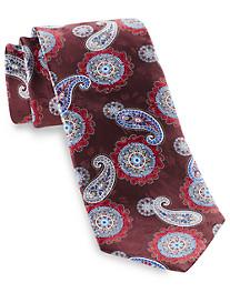 Geoffrey Beene Medallion Paisley Silk Tie