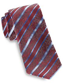 Geoffrey Beene Botanical Stripe Silk Tie