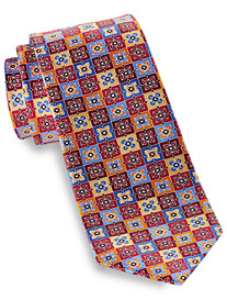 Geoffrey Beene Starbox Geometric Patterned Silk Tie
