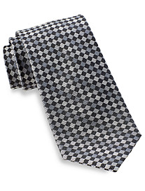 Gold Series Designed in Italy Tonal Check Silk Tie