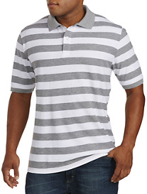Harbor Bay® Large Stripe Piqué Polo