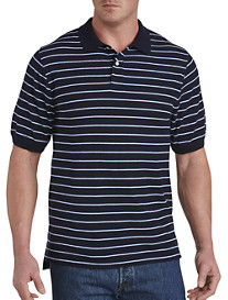 Harbor Bay® Narrow Bi-Color Stripe Polo