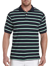 Harbor Bay® Medium Bi-Color Stripe Polo