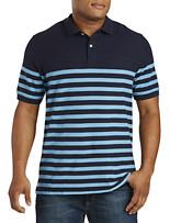 Harbor Bay® Placed Stripe Piqué Polo