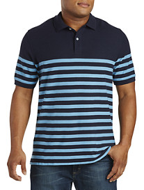 Harbor Bay® Placed Stripe Piqué Polo