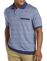 Harbor Bay® Double Square Jacquard Banded-Bottom Shirt