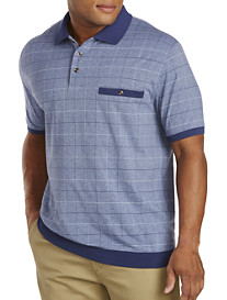Harbor Bay® Double Square Jacquard Banded-Bottom Shirt