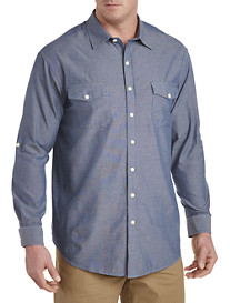True Nation® Washed Chambray Sport Shirt