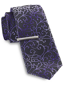 Gold Series Paisley Tie with Tie Bar