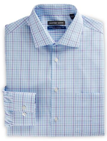 Geoffrey Beene® Medium Check Dress Shirt (aqua purple) ( Mix & Match Geoffrey Beene, Gold Series & Synrgy Dress Shirts )