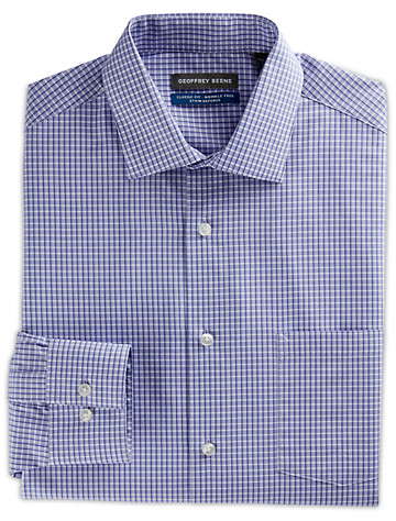 Geoffrey Beene® Small Grid Dress Shirt ( Mix & Match Geoffrey Beene, Gold Series & Synrgy Dress Shirts )