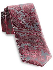 Geoffrey Beene® Platinum Paisley Silk-Blend Tie