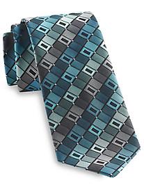 Geoffrey Beene® All-Day Geometric Silk-Blend Tie