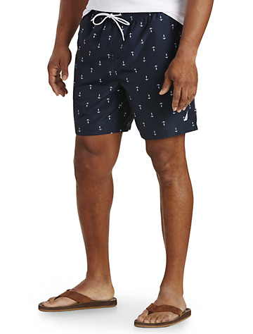 Nautica® Anchor-Print Swim Trunks
