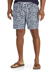 Nautica® Leaf-Print Swim Trunks