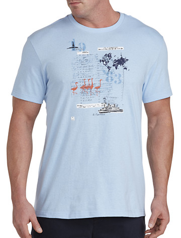 Nautica® Ellis Island Map Graphic Tee - Available in light haze