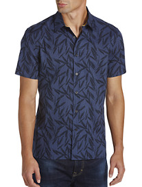 Perry Ellis® Tonal Leaf-Print Sport Shirt